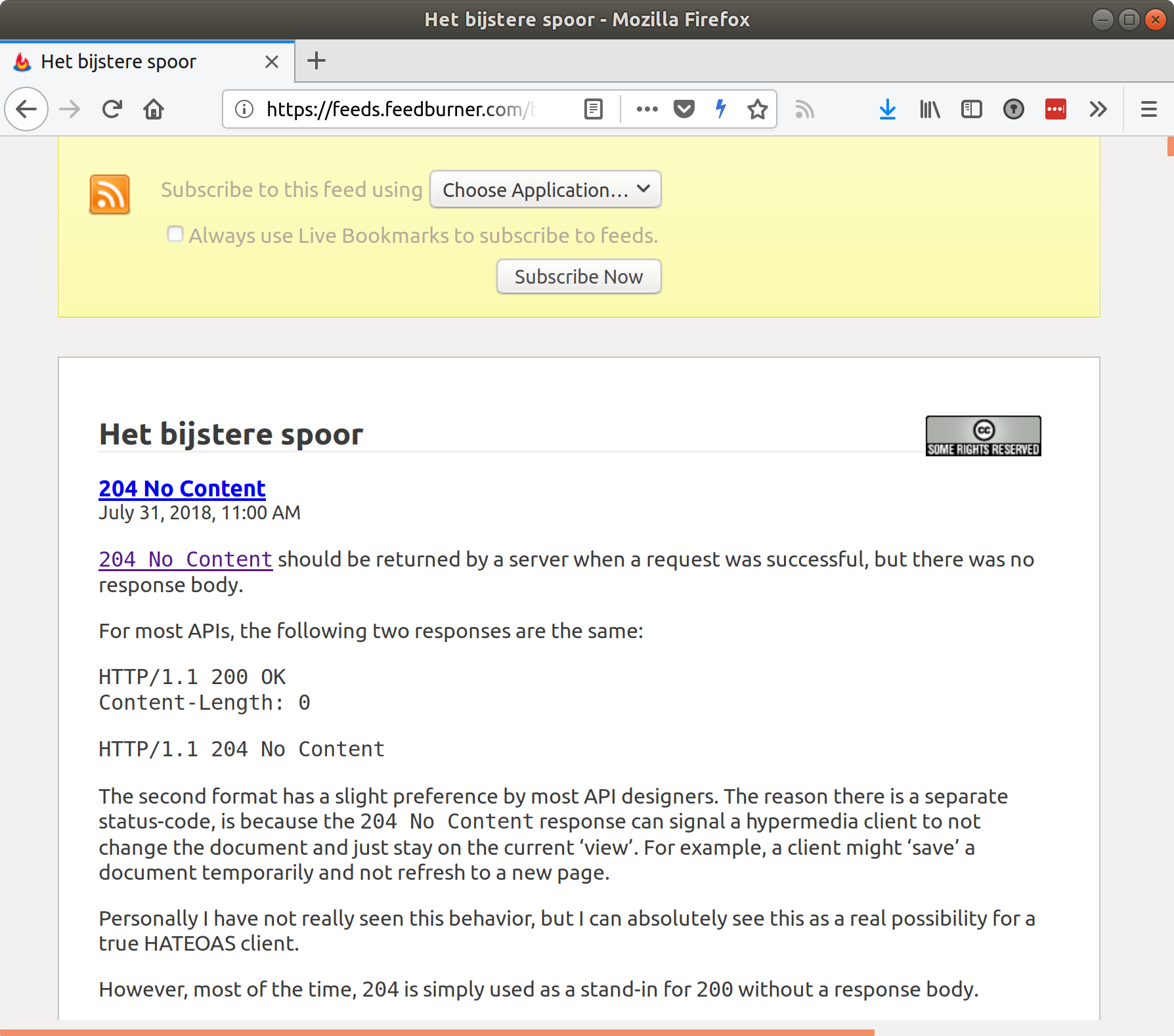 Firefox feed reader
