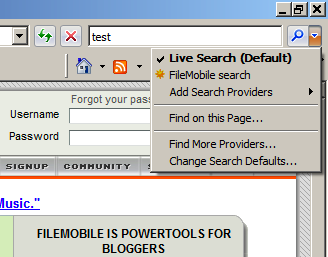 OpenSearch in IE7