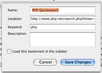 PHP quicksearch